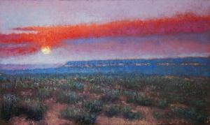 """Gary Ernest Smith. """"Desert Night."""" Oil 16 x 24"""""""