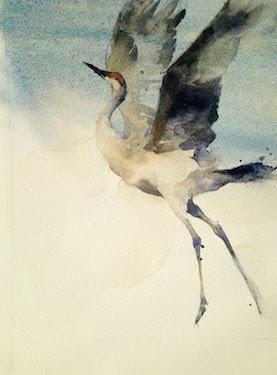 "Kathryn Turner. ""Free."" 10x8"" Watercolor"