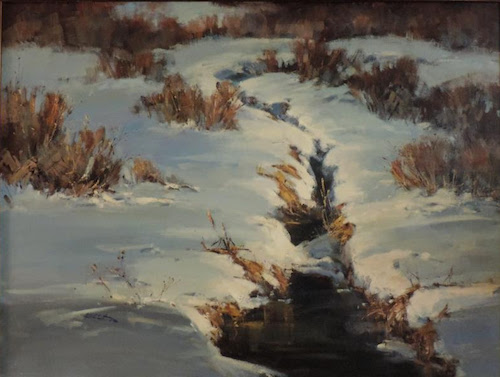 "Bill Sawczuk ""Winter Glory."" 36 x 48"" Oil on Canvas"
